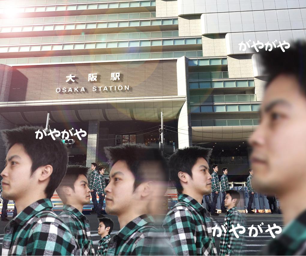 平日なのに人が密集する大阪駅