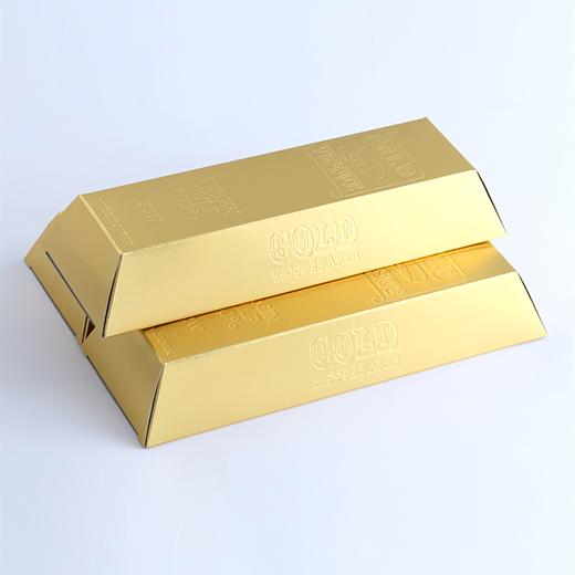 金塊型ゴールド BOXティッシュ平型30Wの画像 1
