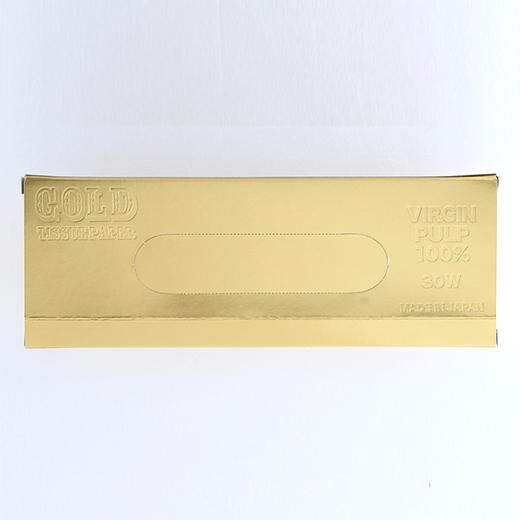 金塊型ゴールド BOXティッシュ平型30Wの画像 3