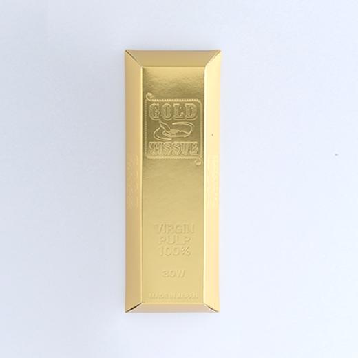 金塊型ゴールド BOXティッシュ平型30Wの画像 4