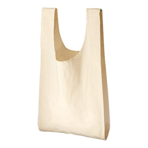 厚手コットンお買い物バッグの画像 1